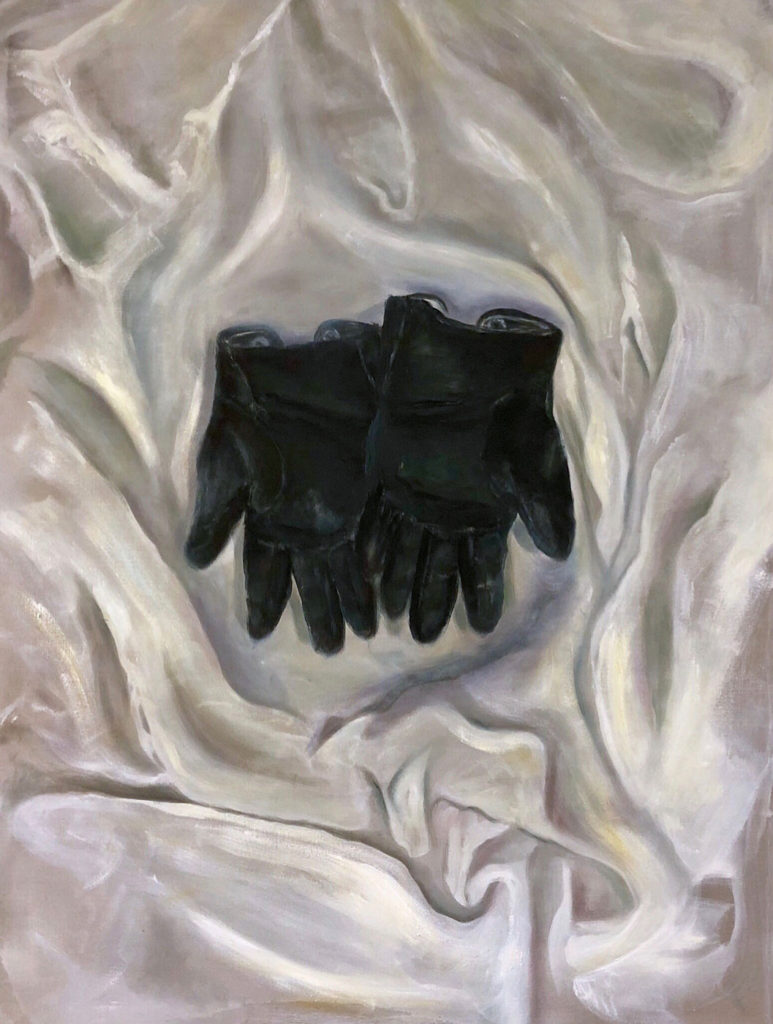 Old Gloves, 120x90, oil on cotton, 2018