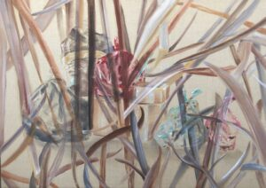 Load II, 64x90, oil on raw canvas, 2019