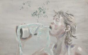 Ingrid, 75x120, oin on canvas, 2019